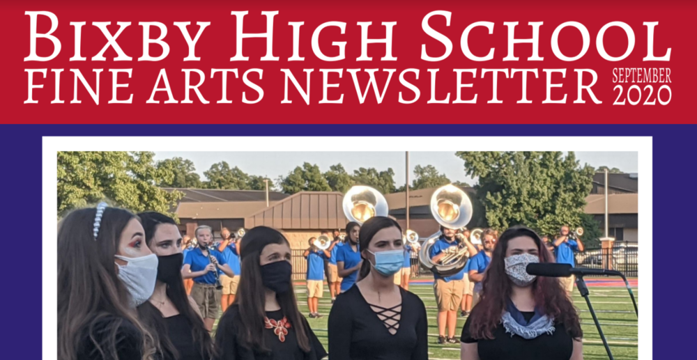 BHS Fine Arts Newsletter: September 2020