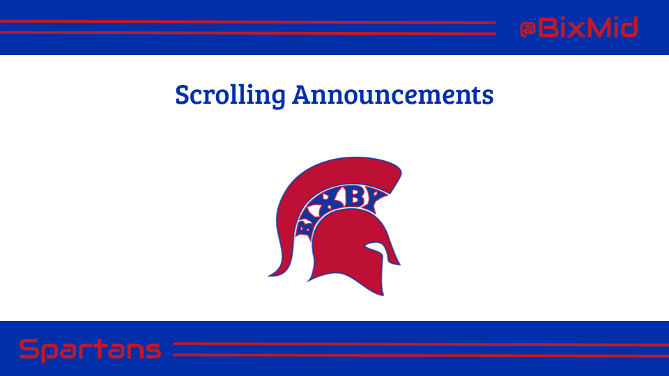 BMS Scrolling Announcements