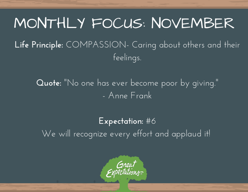 Great Expectations - November Focus