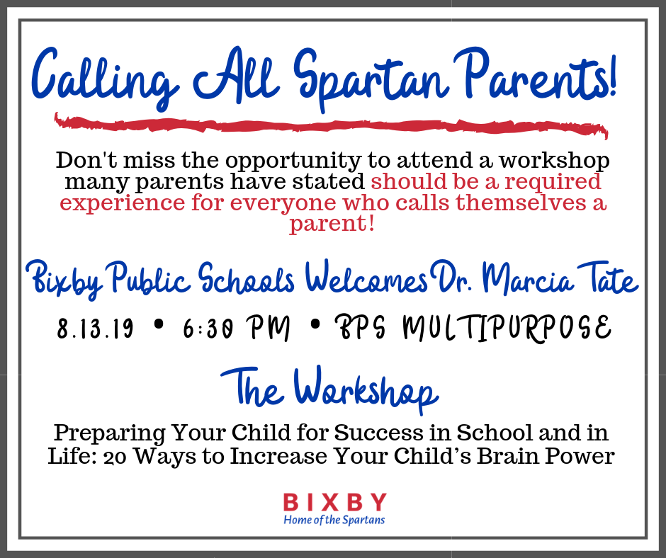 Calling All Spartan Parents: Dr. Marcia Tate Workshop