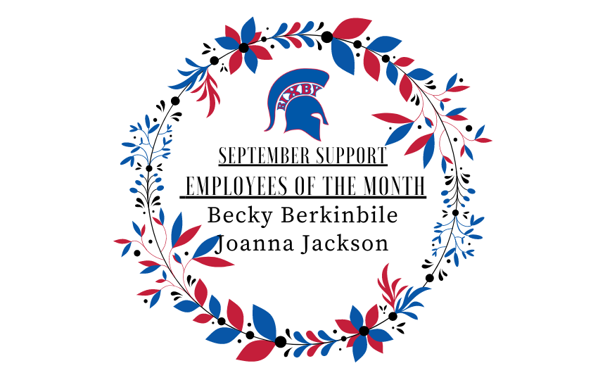 Bixby's September Support Employees of the Month