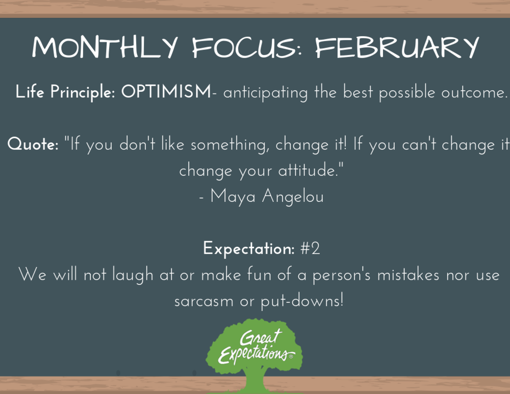Great Expectations - February Focus
