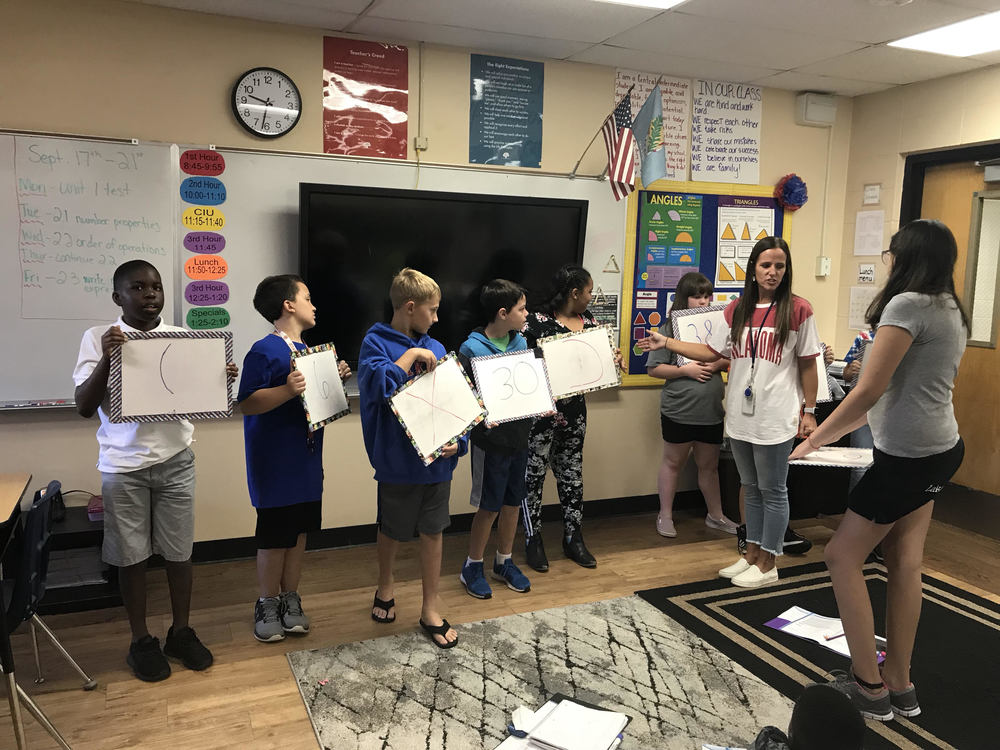 Mrs. Williams' Class learns Distributive Property