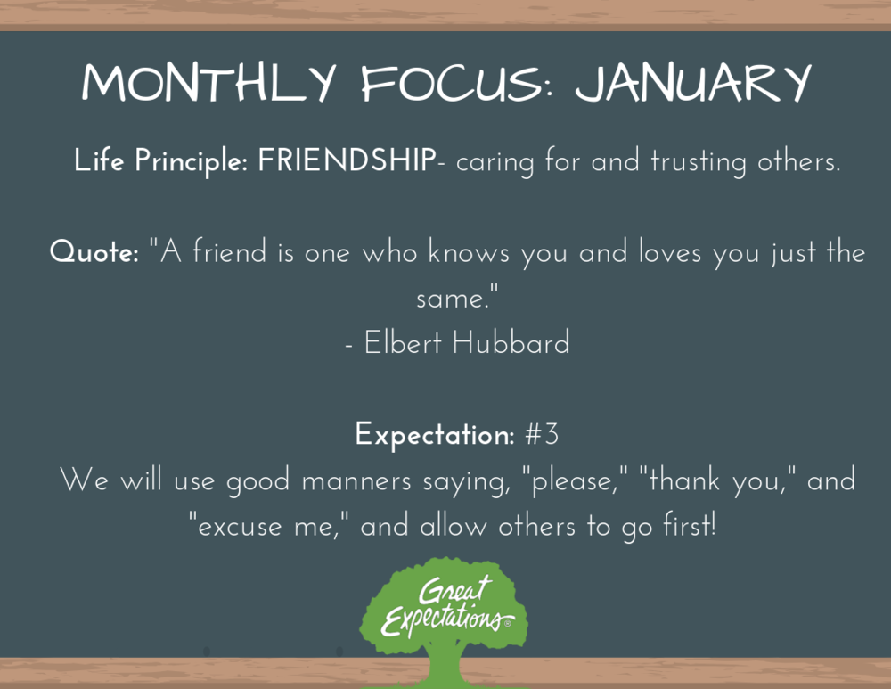 Great Expectations - January Focus