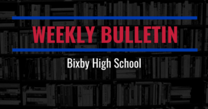 Weekly Bulletin for October 29 - November 2, 2018