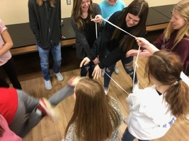 The 9GC Leadership Class completes the Shoelace Challenge