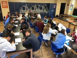 Building ACT exposure by speed dating with writing prompts.
