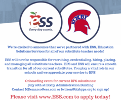 BPS Now Partnering with ESS for Substitute Service