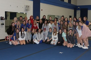 Bixby Spartan Cheer Welcomes Senator Carri Hicks