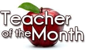 August and September Teacher of the Month
