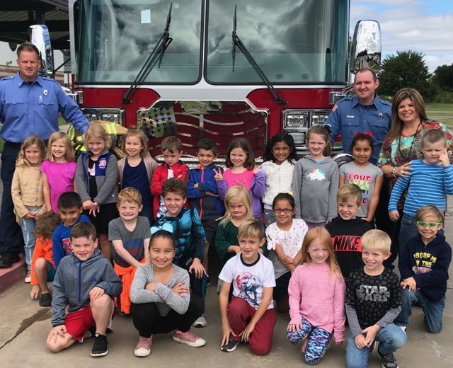 1st Grade visit with Bixby Fire