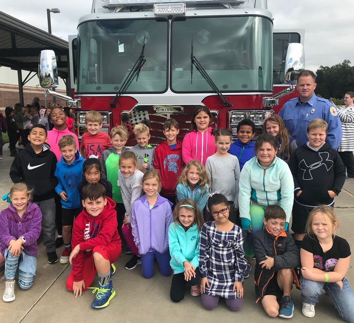 2nd Grade visit with the Fire Department