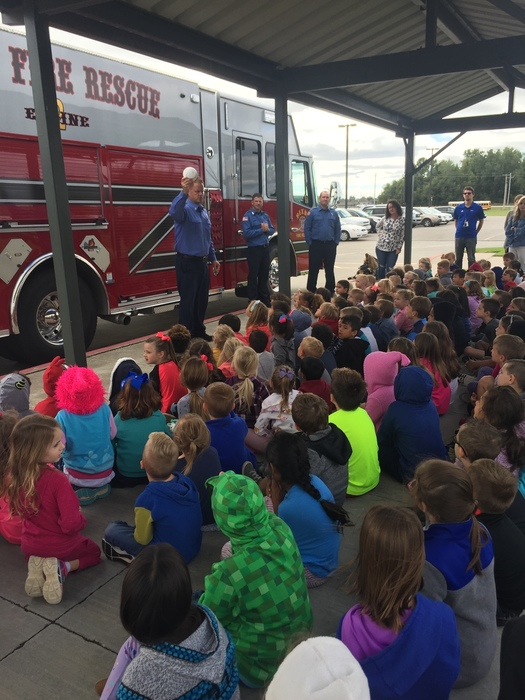 Pre-K and Kindergarten learn Fire Safety