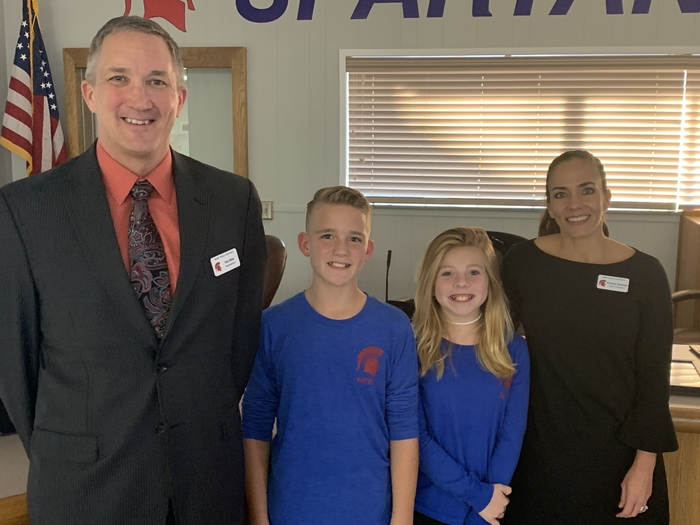 Ty Bevins and Ella Robateau,  Sixth graders at Northeast Intermediate
