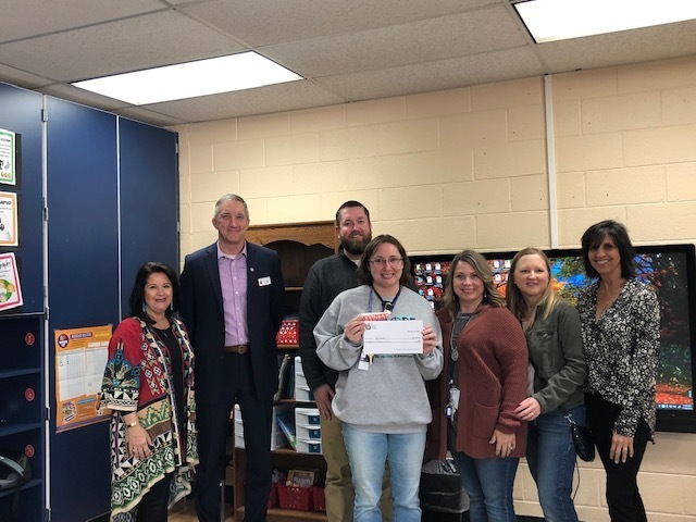 Mrs. Hamilton received a grant for alternative seating and document camera.