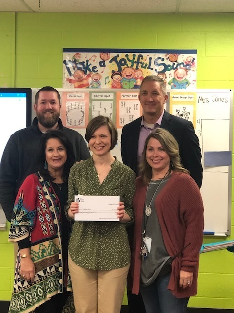Mrs. Jones received a grant for musical equipment.