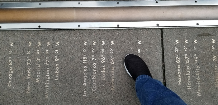 The Meridian Line for Bixby's little corner of the world.