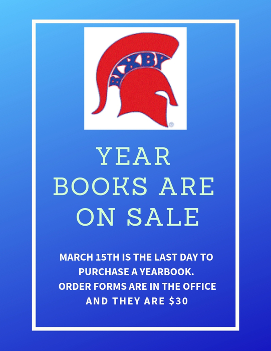 Year Books are on Sale