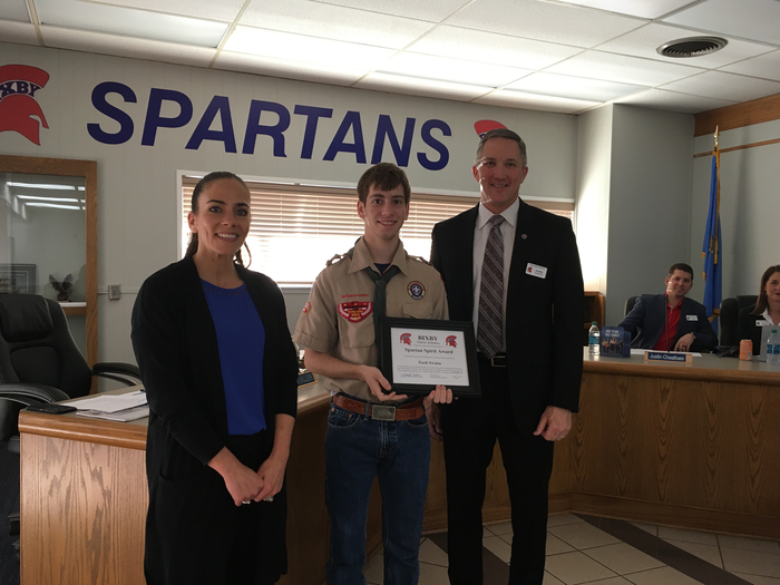 Zach Becoming an Eagle Scout helping BPS