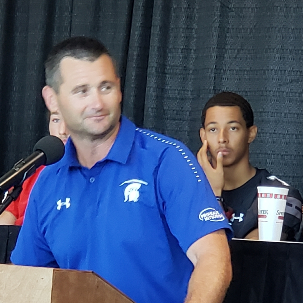 Coach Monty at Border Brawl Press Conference