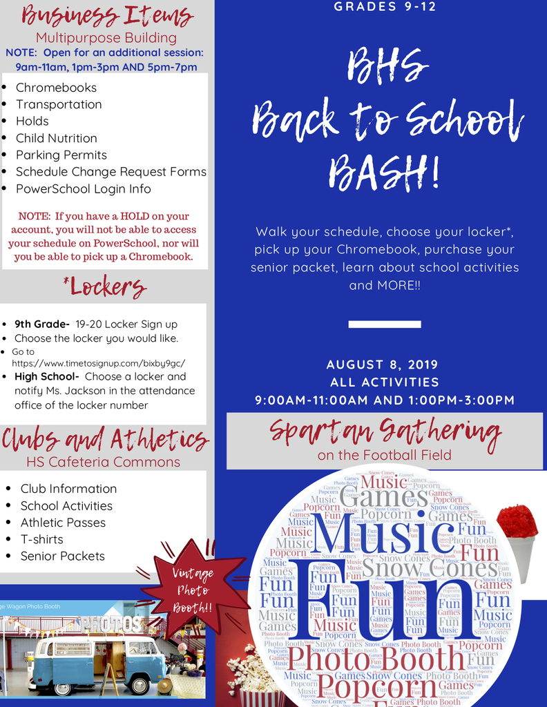 BHS Back to School Bash