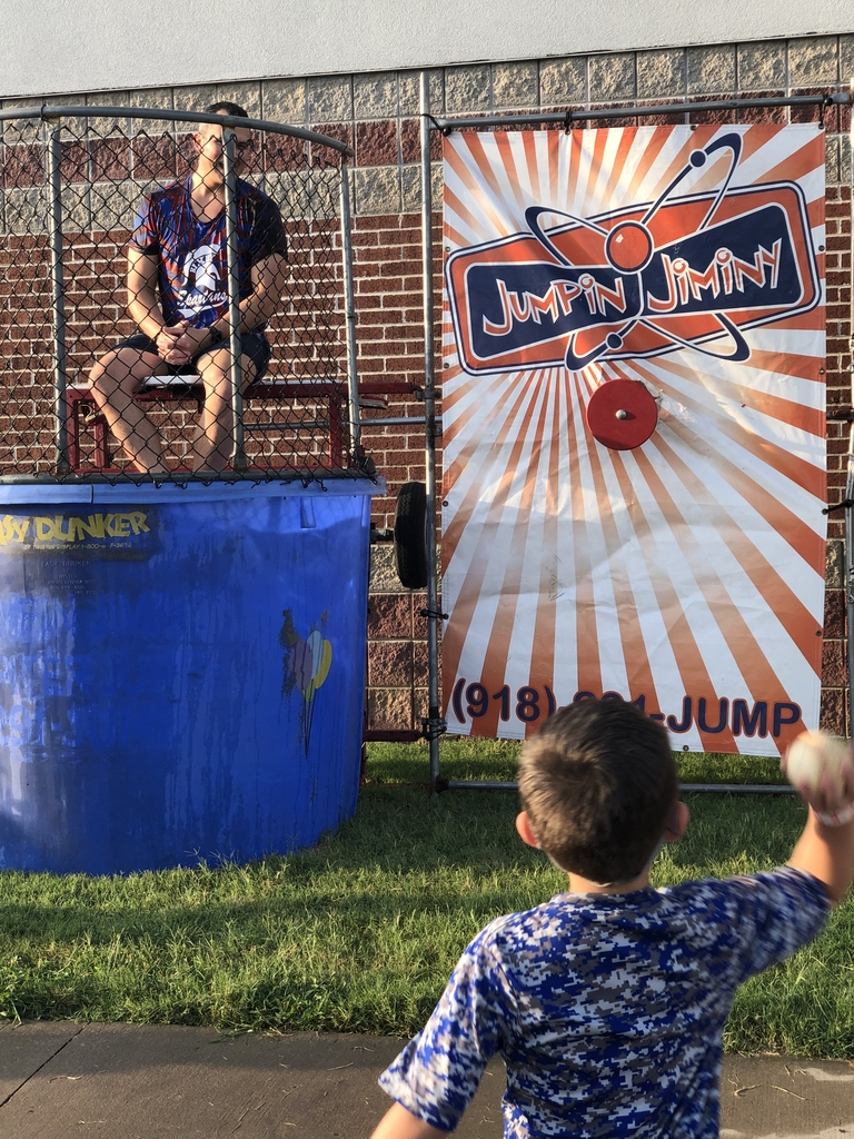 Mr. Dilbeck in the dunk tank!
