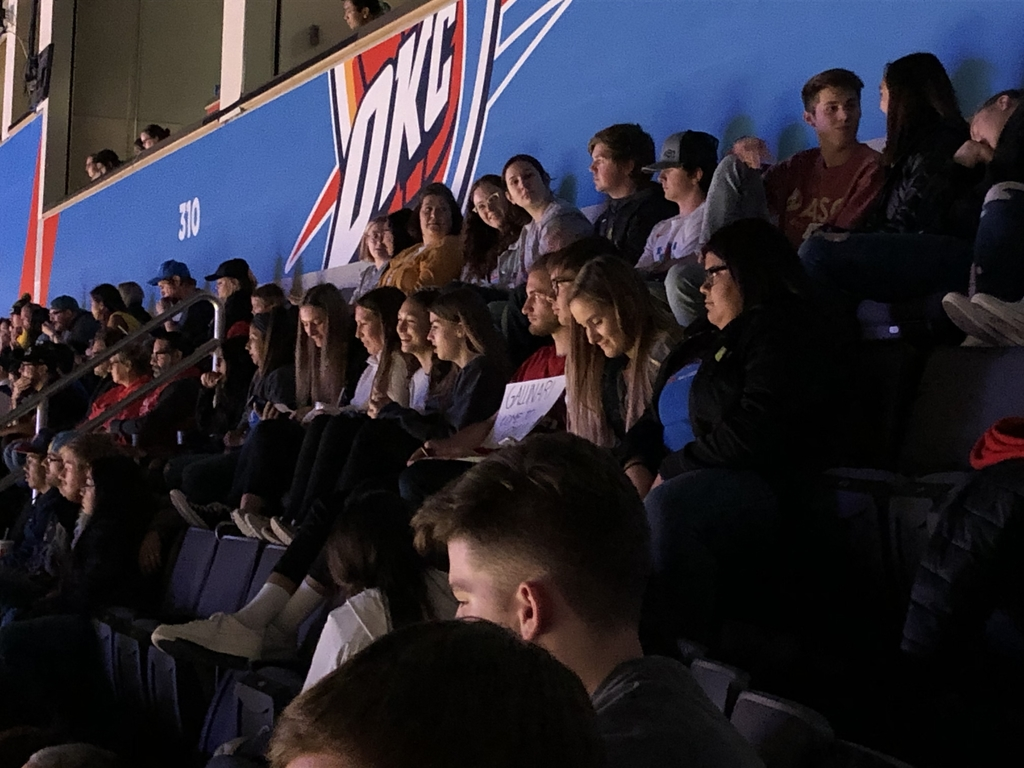 Some students at the Thunder game!