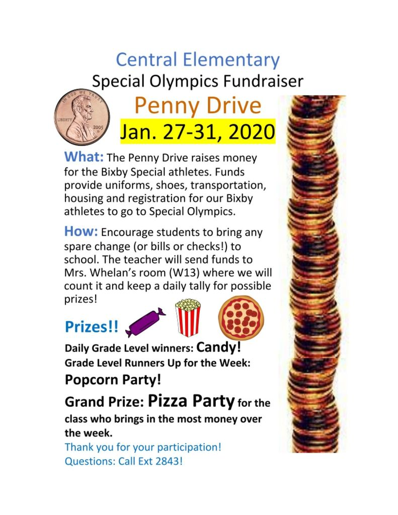 Special Olympics Penny Drive