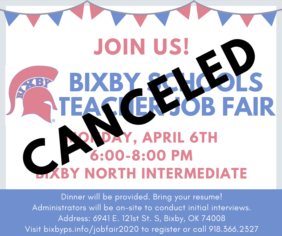Job Fair Canceled