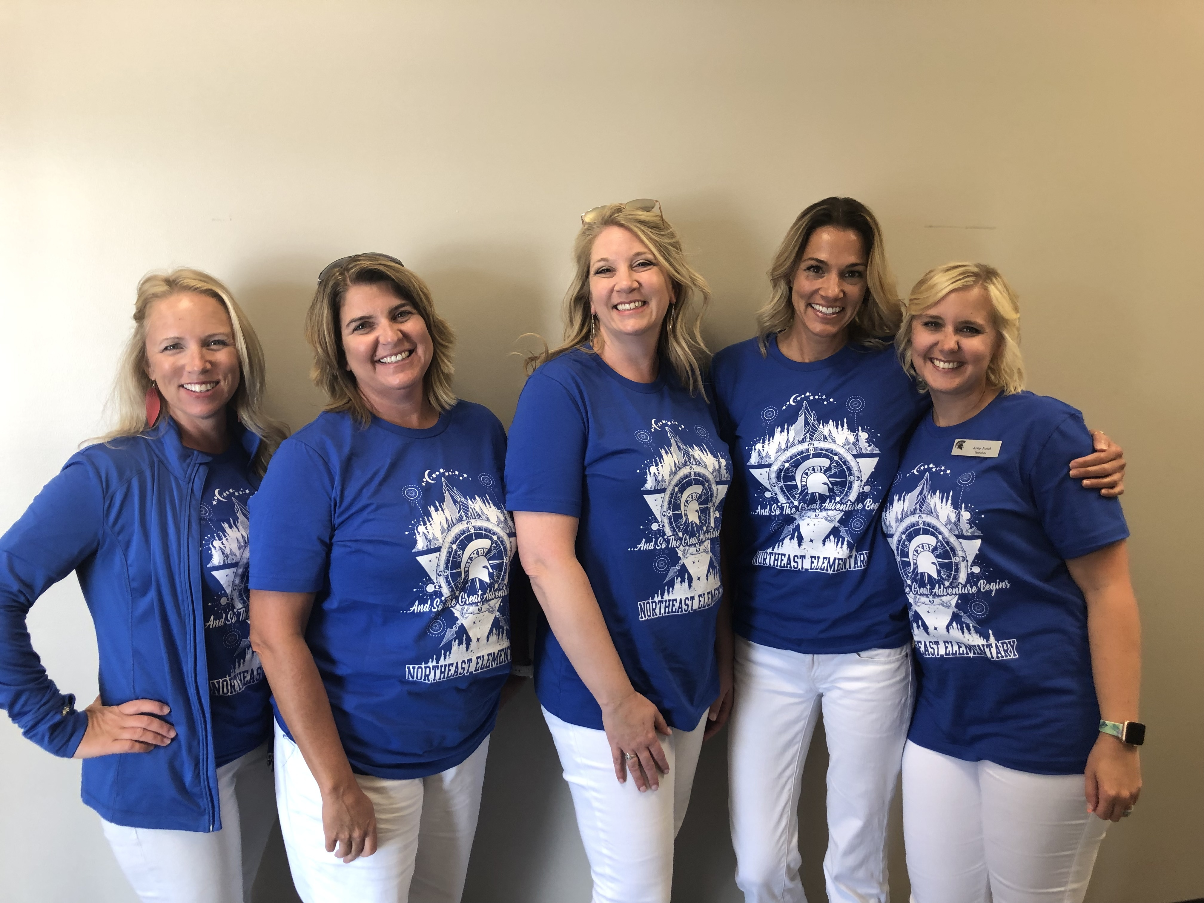 Mrs. Cook, Mrs. Dout, Mrs. Griffin, Ms. Karalis, and Mrs. Ford